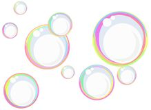 Rainbow soap bubbles