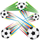 Rainbow Soccer Ball Stock Photo