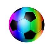 Rainbow soccer football ball vector illustration