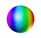 Rainbow soccer football ball stock illustration