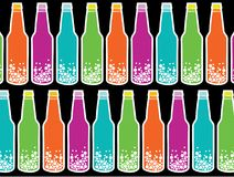 Rainbow soda pop on black Stock Photography