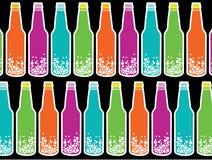 Rainbow soda pop on black stock photography