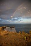 Rainbow sopra il mare Fotografie Stock