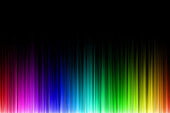 Rainbow sound wave Stock Images