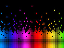 Rainbow Soundwaves Background Means Musical Playing Or DJ Stock Images