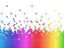 Rainbow Soundwaves Background Shows Music Songs And Artists Royalty Free Stock Image