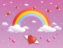 Rainbow sparkle Royalty Free Stock Image