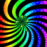 Rainbow Sparkle Shamrock Royalty Free Stock Photography