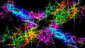 Rainbow sparks dark background wallpaper royalty free illustration