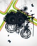 Rainbow Speakers. Rainbow Music Speakers Vector Illustration Royalty Free Stock Photo