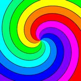 Rainbow spectral swirl. Abstract background Stock Images