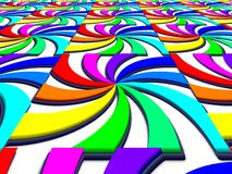 Rainbow spectral swirl perspective image Stock Images