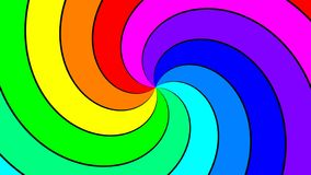 Rainbow spectral swirl rotating quickly clockwise