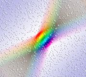 Rainbow spectrum. Abstract coloured spectrum with water splats Royalty Free Stock Image