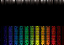 Rainbow spectrum background. Brightly coloured abstract rainbow background with square pattern Stock Images