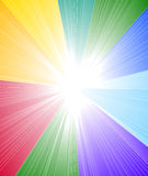Rainbow spectrum background. Abstract rainbow background for brochure Stock Photography