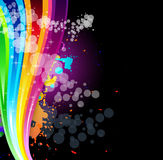 Rainbow Spectrum Background for Brochure Royalty Free Stock Image