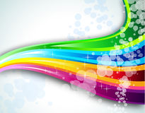 Rainbow Spectrum Background for Brochure or Flyers Stock Photography