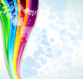 Rainbow Spectrum Background for Brochure or Flyers Stock Images