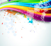 Rainbow Spectrum Background for Brochure or Flyers Stock Image