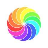 Rainbow spectrum color wheel. Children wind vane vector illustration Stock Photos