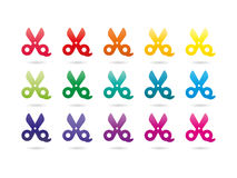 Rainbow spectrum colorful scissors Royalty Free Stock Photos