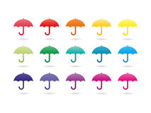 Rainbow spectrum colorful umbrellas Royalty Free Stock Photos