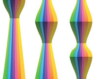 Rainbow Spectrum Geometric Shapes Abstract Vector Design Element Stock Photo
