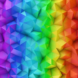 Rainbow spectrum gradient polygonal surface abstract 3D render. Rainbow spectrum gradient polygonal surface. Computer generated abstract background. 3D rendering Stock Images