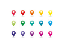 Rainbow spectrum map pointer icons Stock Image
