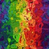 Rainbow spectrum modern art seamless pattern texture Royalty Free Stock Photography