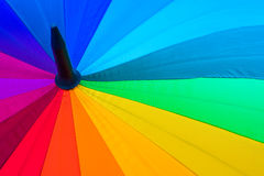 Rainbow spectrum multicolored background of an umbrella. Royalty Free Stock Photo