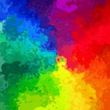 Rainbow_spectrum_painted_art_pattern_texture 库存图片