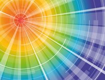 Rainbow spectrum sun. Rainbow sun, with all spectrum from summer hot red to cold blue stock illustration