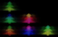 Rainbow spectrum trees Royalty Free Stock Images