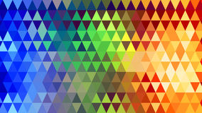 Rainbow spectrum triangles geometric background Stock Photography
