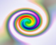 Rainbow spectrum twirl Stock Photography