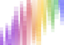 Rainbow speed pixel upside down abstract background stock illustration