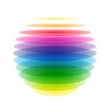 Rainbow sphere vector illustration