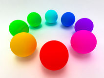 Rainbow sphere Royalty Free Stock Photos