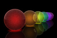 Rainbow spheres Royalty Free Stock Photo