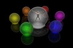 Rainbow spheres Stock Image