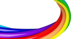 Rainbow spiral Royalty Free Stock Images