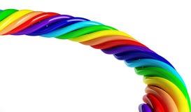 Rainbow spiral Stock Image