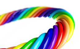 Rainbow spiral. On a white background Royalty Free Stock Photos