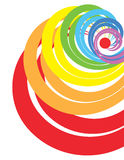 Rainbow spiral Stock Photography