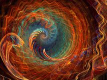 Rainbow spiral. Abstract fractal background created with apophysis, this is a large file showing many details when viewed at full size Stock Images