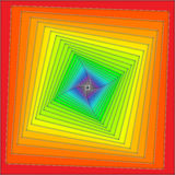 Rainbow spiral. Multiple color squares twisting in a spiral Stock Images