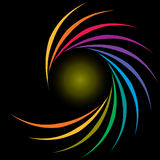 Rainbow Spiral Stock Photo