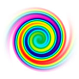 Rainbow spiral Royalty Free Stock Photos